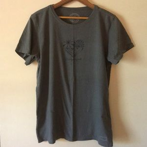 """Life is Good """"change is good"""" gray large t-shirt"""